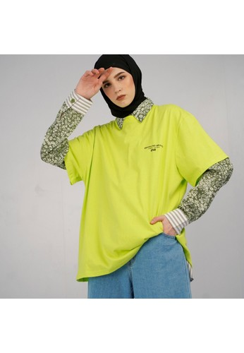 Brand No Brand green Neona Shirt 5A586AAD8F4546GS_1