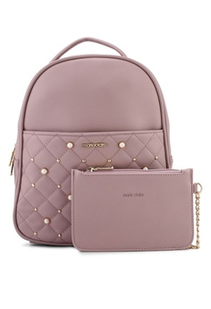 adc2a782e511 Marie Claire pink Large Pearl Backpack BA91AAC8FCDE91GS 1