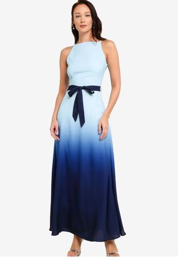 ZALORA OCCASION blue Ombre Maxi Dress DB81CAAC9B874FGS_1