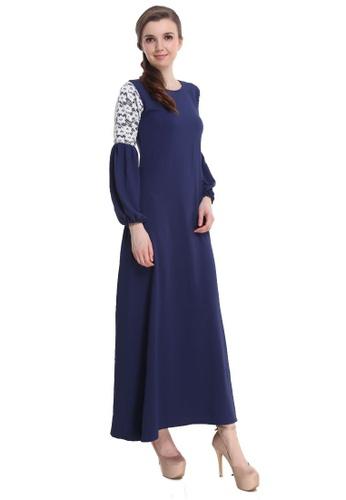 Amar Amran blue Jubah Zara 142F8AA8F90C8AGS_1