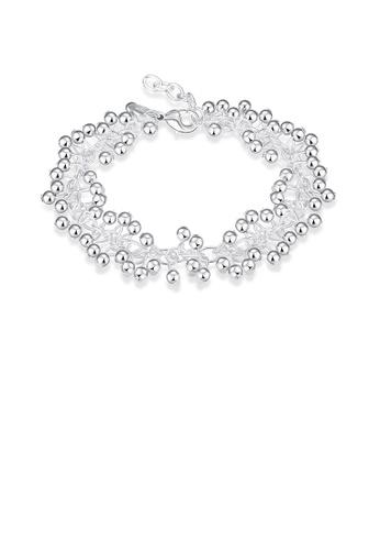 Glamorousky silver Simple Beaded Grape Bracelet AF003AC5C3C6CFGS_1