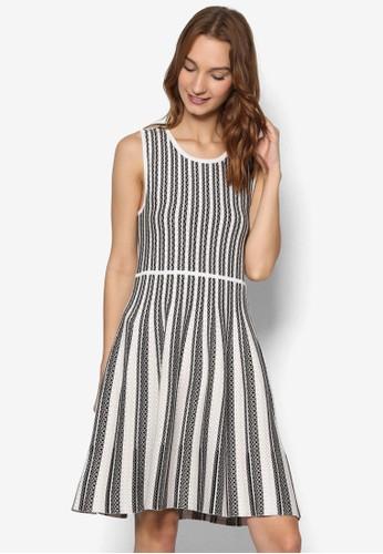 直條紋針織無袖連身裙, 服飾,esprit 尖沙咀 洋裝