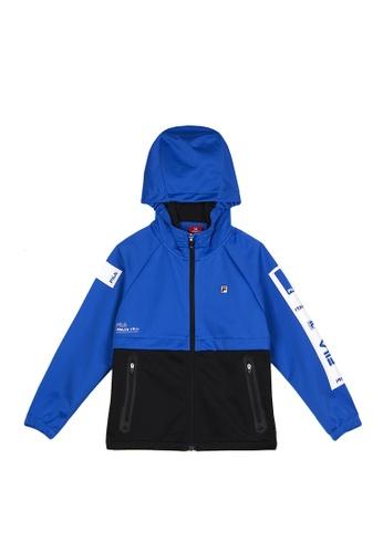 FILA blue FILA KIDS Colour Blocks Hooded Jacket 8-16yrs AF542KA200729DGS_1