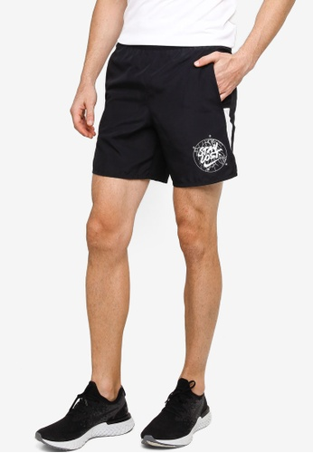 Nike black and grey Challenger Wild Run Shorts 47DC5AA42E9089GS_1