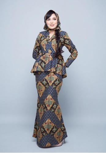 PREMIUM EDITION - Batik Fateemah for Lady from ROSSA COLLECTIONS in Blue