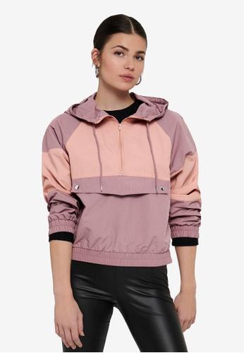 JACQUELINE DE YONG pink Neo Long Sleeves Anorak 6C85FAAA835AE9GS_1