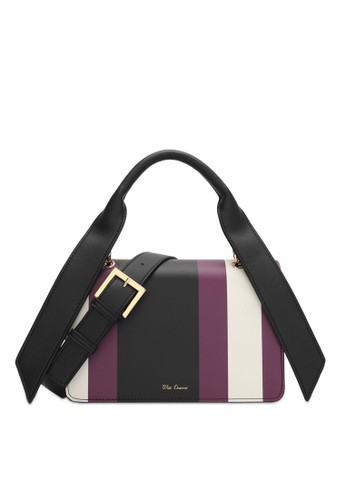Wild Channel purple and multi Color Block Top Handle Bag CC22AAC6106754GS_1