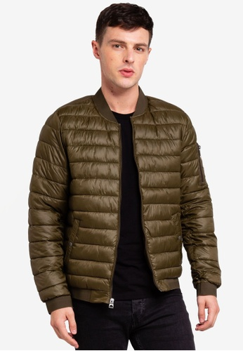 Guess 綠色 Guess Quilted Bomber Jacket A5848AA813AC3EGS_1
