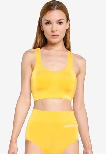Les Girls Les Boys yellow Seamless Sport Crop Top 88FE9US4F89247GS_1