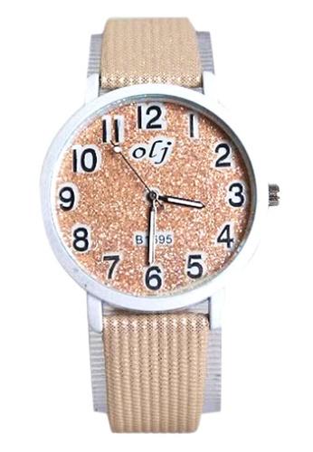 World of Watches beige OLJ Cream Glitters Women's Leather Strap Watch B1695 WO566AC67TZSPH_1