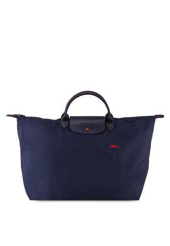 LONGCHAMP blue Le Pliage Club Travel Bag L (nt) F7C0FAC41E7FE7GS_1