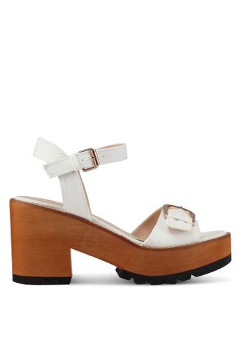 Something Borrowed white Denim Platform Heels 5DAA4SH4C3C516GS_1