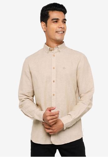 Springfield beige Linen Shirt A7C30AA60FD644GS_1