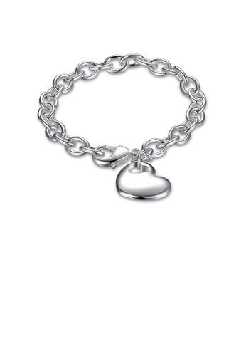 Glamorousky silver Sweet Simple Heart Bracelet 9C63DACF8B0266GS_1