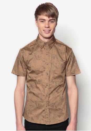 迷彩短袖襯衫, 服esprit 品牌飾, 印花襯衫