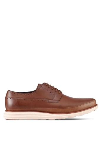 ZALORA brown Lace Up Dress Shoes B6D8DSH8B932ADGS_1
