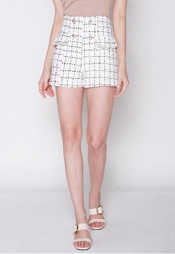 JOVET black and white Tweed Shorts C85FAAA2E68AA5GS_1