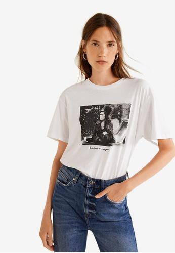 Mango white Amy Winehouse T-Shirt 1628CAAEB7842FGS_1