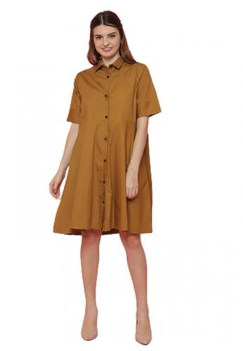 Gina Alana brown Gina Alana Brown MILO Buttoned Dress B9AADAA1CEC8C7GS_1
