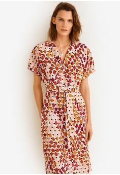 a0999676075 MANGO orange Printed Shirt Dress B9A06AA26A54B6GS 1