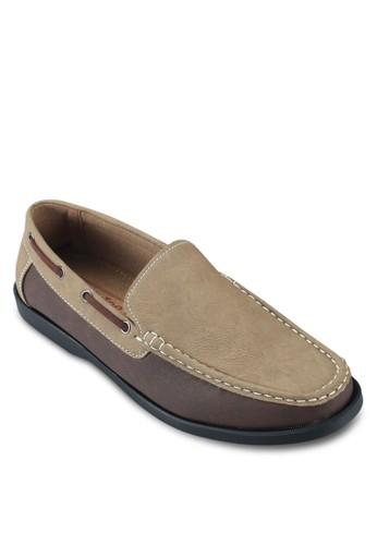 穿孔繫帶雙色船型esprit outlet 家樂福鞋, 鞋, 船型鞋