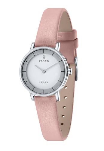 Fjord pink Fjord Women's Genuine Leather Watch - FJ-6038-04 CF741AC07FFAA2GS_1