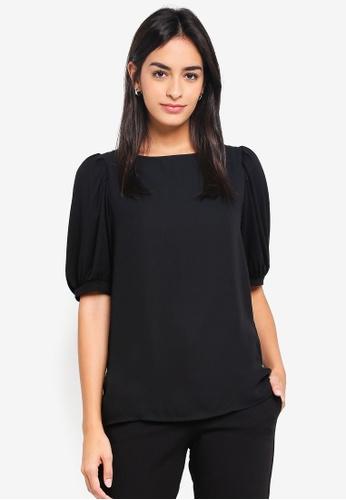 Vero Moda black Pippa Short Sleeve Top DA6D6AA814C6DDGS_1