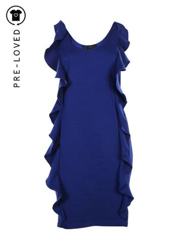 Aidan Mattox blue Pre-Loved aidan mattox Blue Dress With Ruffles 7DA95AA0E2720BGS_1
