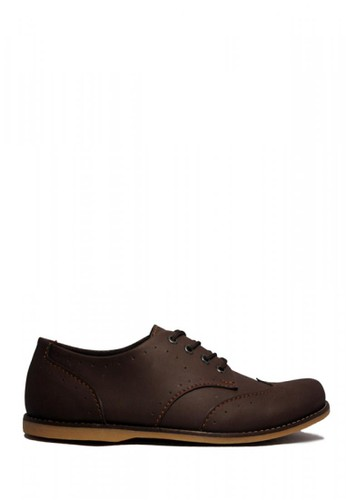 D-Island brown D-Island Shoes Casual Oxford Woodley Leather Brown DI594SH63PKEID_1