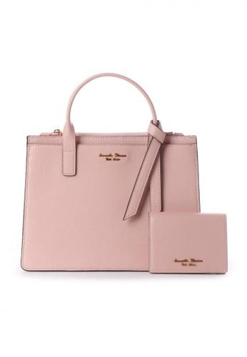 Samantha Thavasa pink Samantha Thavasa Petit Choice Monica Tote with Mini Wallet 8B17EACCA34888GS_1