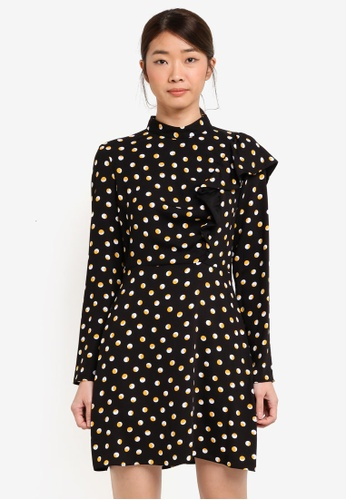 Miss Selfridge multi High Neck Polka Dot Dress 56AA0AACFD7015GS_1