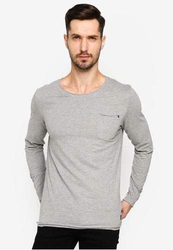 BLEND grey Pocket Long Sleeve T-Shirt F47E2AA6BD13A7GS_1