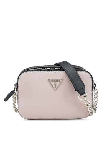 Guess multi and beige Noelle Crossbody Camera Bag 7A00CAC6C79B82GS_1