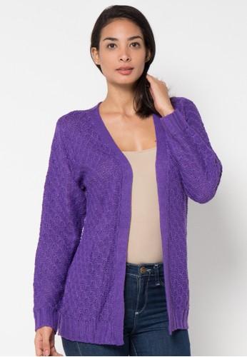 VOYANT BY MEGUMI purple Cardigan Ringgo Bee Nest Motiv VO505AA51YKYID_1
