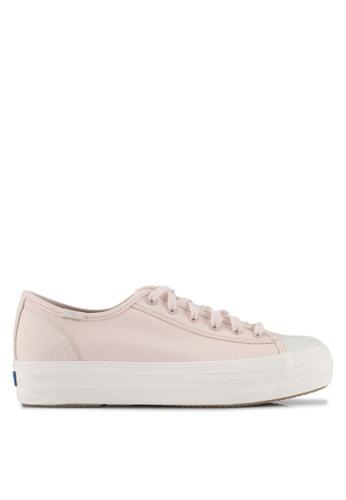 Keds pink Triple Kickstart Colourblock Sneakers KE942SH0STF4MY_1