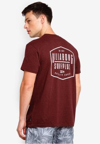 Billabong 紅色 印花T恤 919E9AAF23C5A9GS_1
