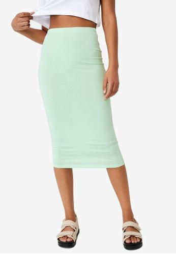 Cotton On green Essential Midi Skirt 58E06AA551792BGS_1