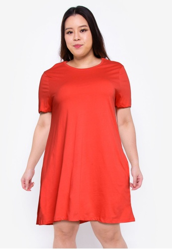 Only CARMAKOMA red Plus Size April Pocket Dress 8F9A5AA33E963AGS_1