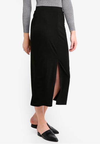 ZALORA BASICS black Basic Maxi Skirt 0B4B7AA59BB082GS_1
