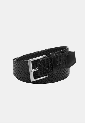 Buckle black Mossman 35mm Plaited Belt C33C1AC2AAF501GS_1
