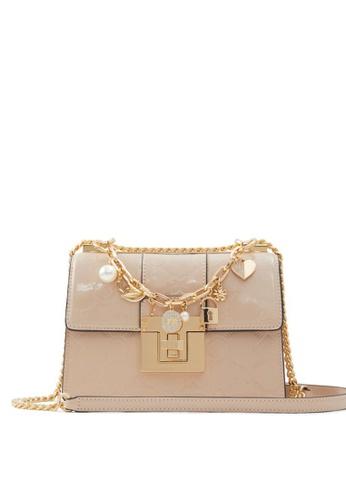 ALDO beige Iconicharm Crossbody Bag 0E3BAAC3AF8E98GS_1
