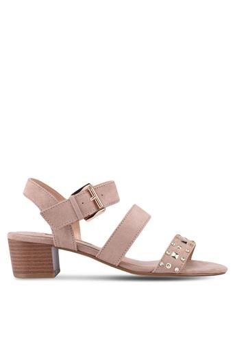 Dorothy Perkins beige Taupe Samantha Studded Sandals E0CDASHD7A9003GS_1