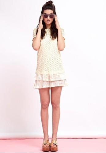 蕾絲百摺洋裝, 服飾,esprit tw 短洋裝
