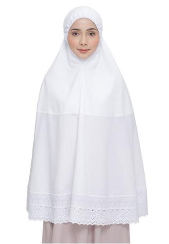 SITI KHADIJAH white Siti Khadijah Telekung Dahlia Travel (Top Only) 085C6AAB310776GS_1