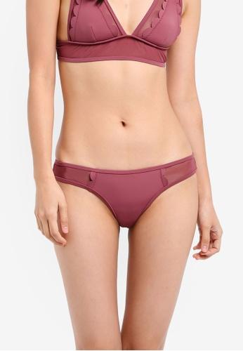 River Island purple Scallop Mesh Bikini Bottom RI009US0SITPMY_1