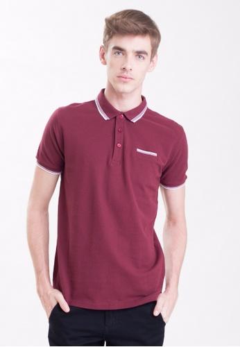 Drum Single Striped Collar Polo Shirt-Mrn DR425AA0RSCCMY_1