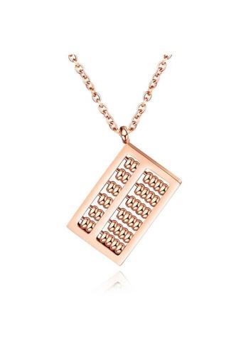 YOUNIQ YOUNIQ MONI Abacus 18K Rosegold Titanium Steel Necklace 473E3AC4E994C8GS_1