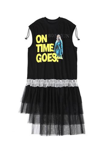 Twenty Eight Shoes Black Slouchy Sleeveless Mesh Dress DD2059 0F40BAA9E06BAFGS_1
