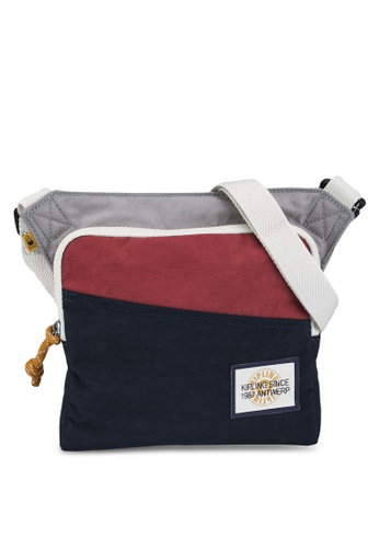 Kipling grey and red and blue and multi Almiro Crossbody Bag F050FACE7E5FB4GS_1