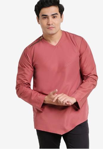 Amar Amran pink Kurta Yusuf AM362AA56JXRMY_1